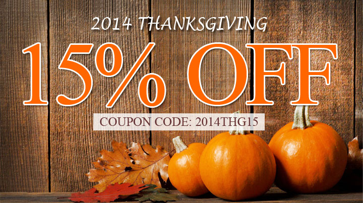 2014 Thanksgiving Sale!