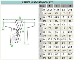 Light weight white summer kendo kendogi with hidritex